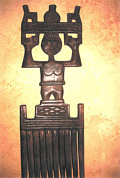 Ashanti Hand carved Comb from the Rainforests of Central Ghana