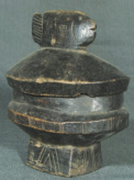 LOZI/BAROTSE - WOOD BOWL W/ COVER - ZAMBIA